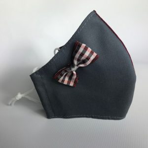 Mascarillas higiénicas uniforme con lazo