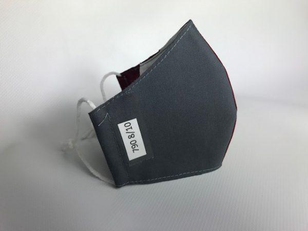 Mascarilla granate colegio con tejido certificado