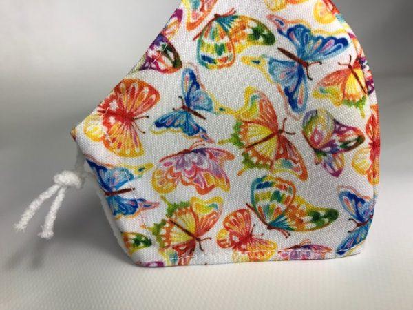 Mascarilla mariposas con algodón sanitario
