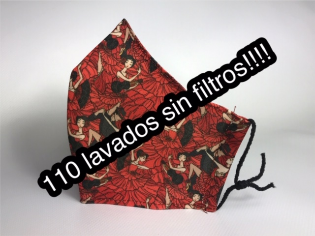 Mascarilla flamenca roja homologada 836