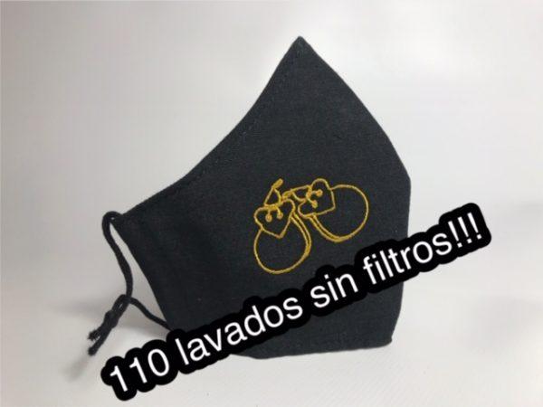 Mascarilla con castañuelas bordadas hasta 110 lavados sin filtros