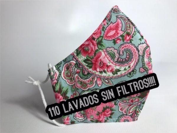 Mascarilla con flores homologada 110 lavados