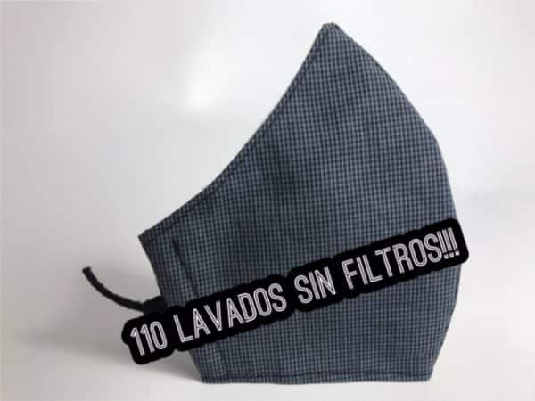 Mascarilla de tela reutilizable hasta 110 lavados sin filtros