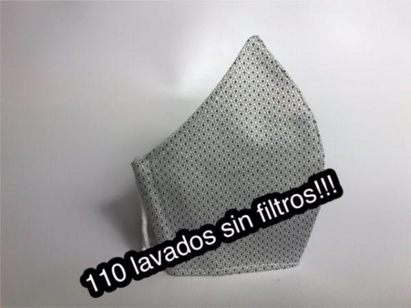 Mascarilla higiénica con 110 lavados sin filtros