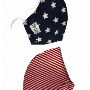Mascarilla bandera Americana con 110 lavados sin filtros