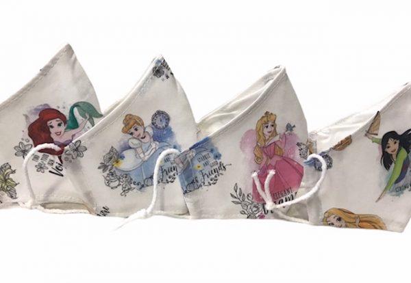 Mascarilla princesas 110 lavados sin filtros con homologacion