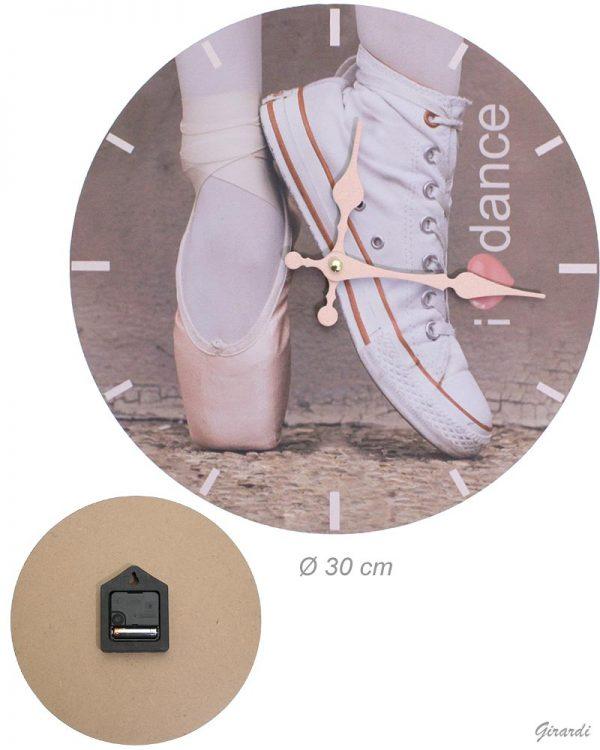 Reloj zapatillas de ballet para colgar en la pared