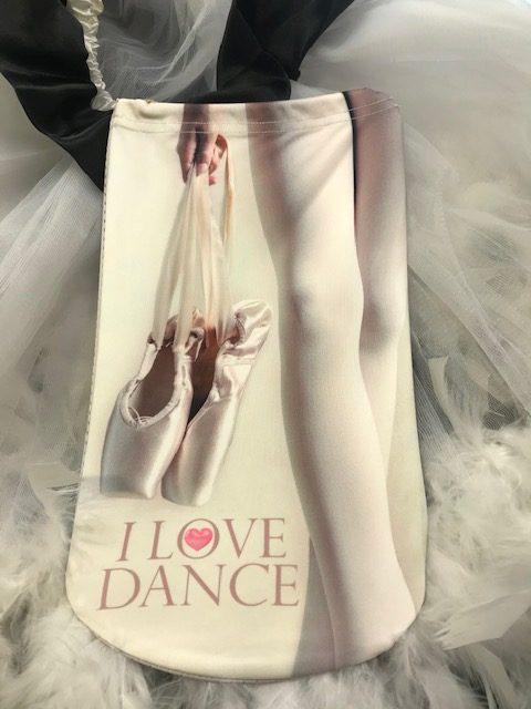 Funda zapatillas ballet con imagen de puntas de ballet