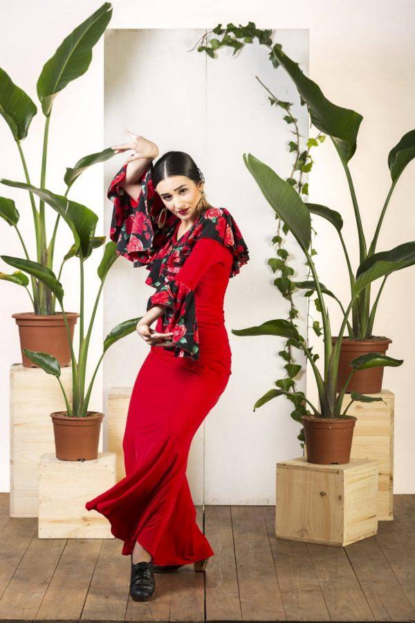 Falda flamenca roja Tajar