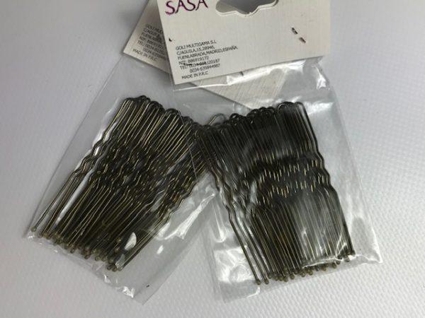 Horquillas de moño rubias para el pelo