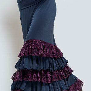 Falda flamenca elástica