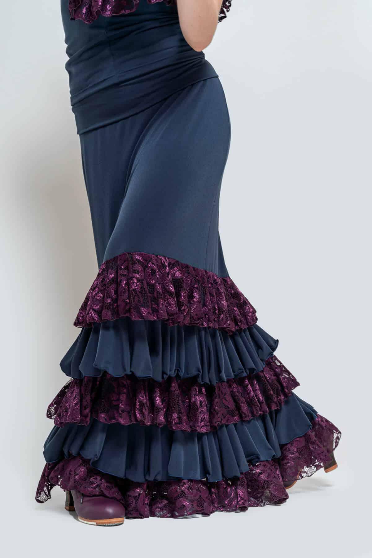 Falda flamenca elástica 4306