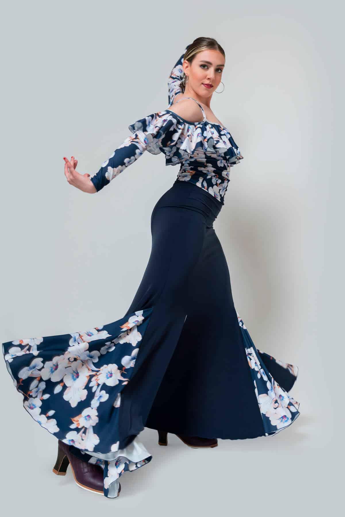 Falda flamenca flores 4304