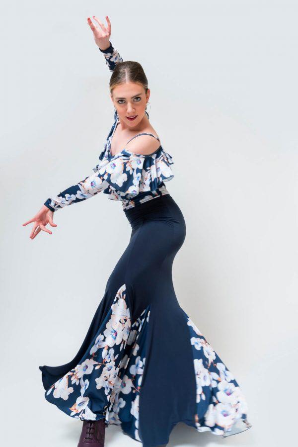 Falda flamenca flores con godets