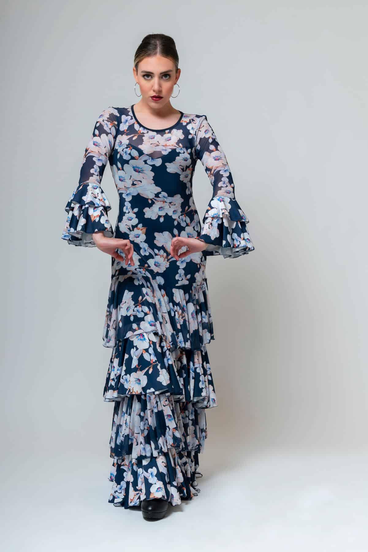 Vestido flamenco con flores 4296