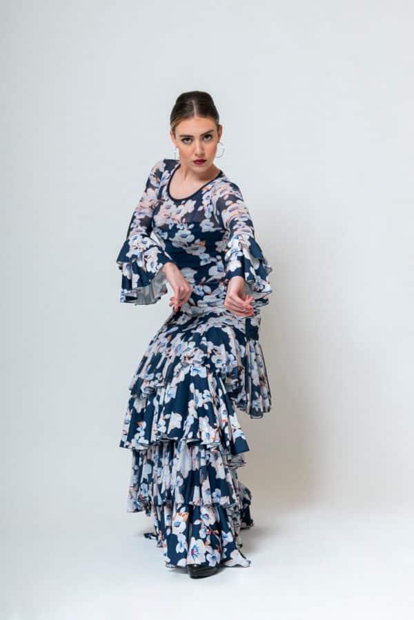 Vestido flamenco con flores