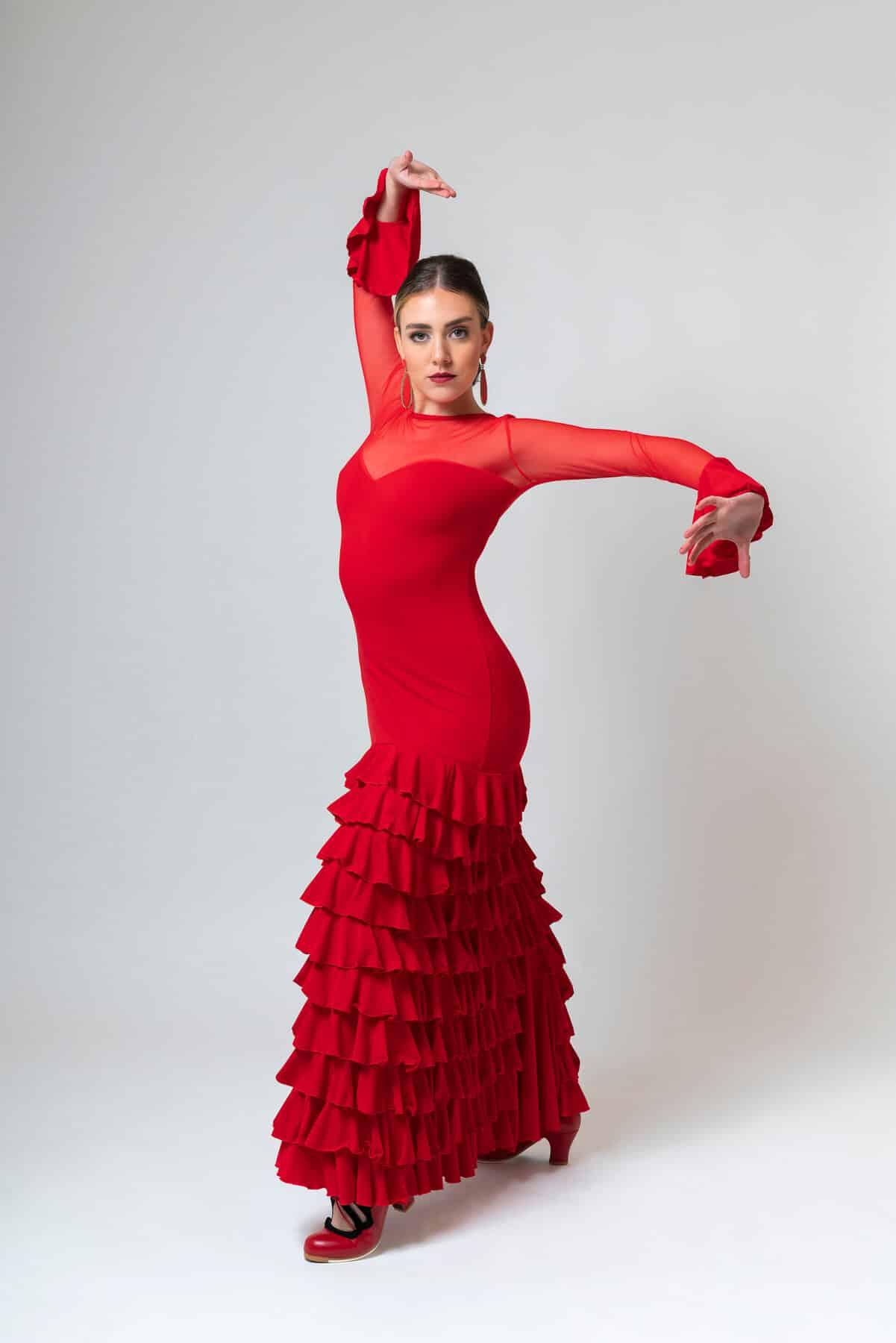 Vestido para flamenca rojo 4297
