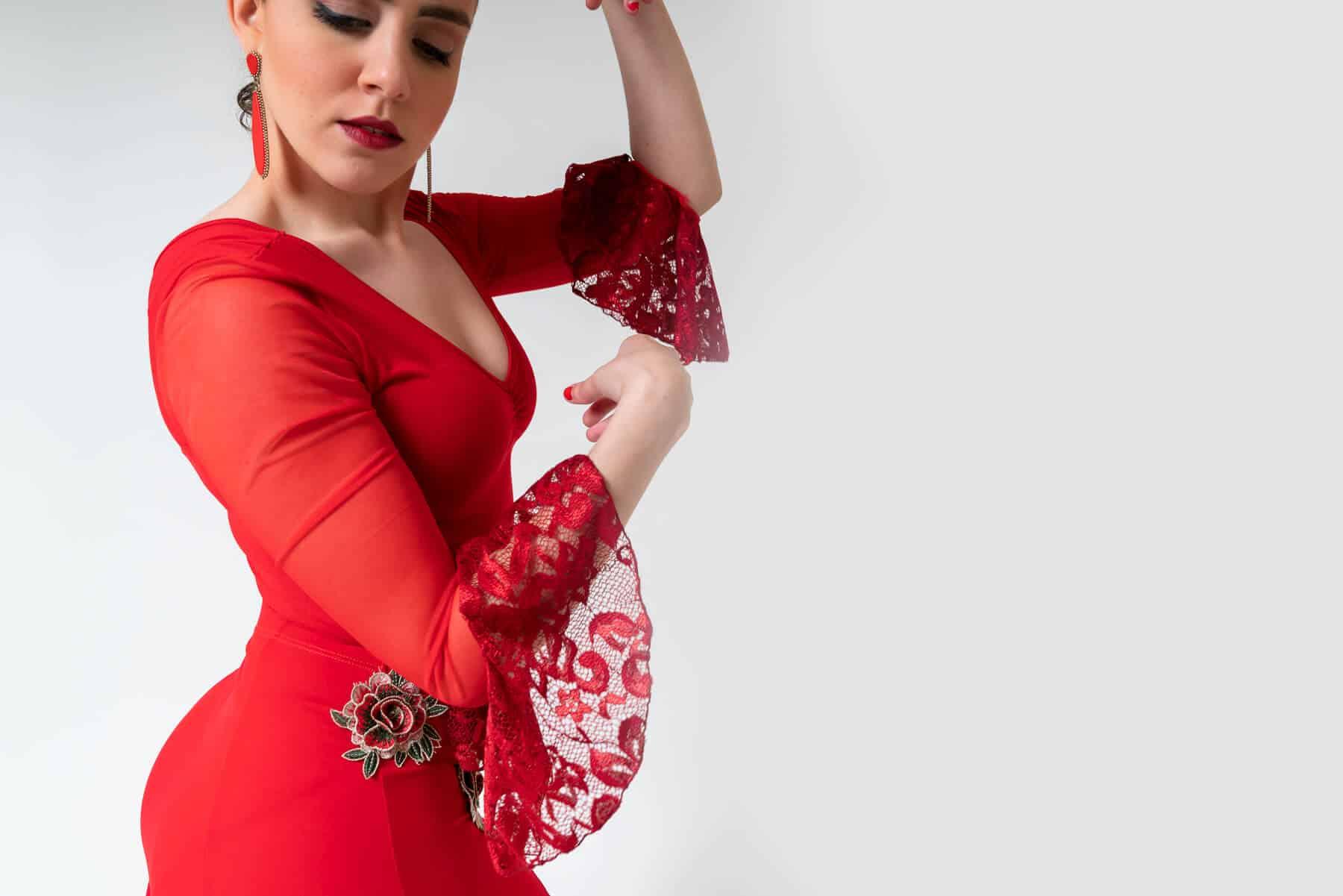 Maillot flamenco rojo 4307