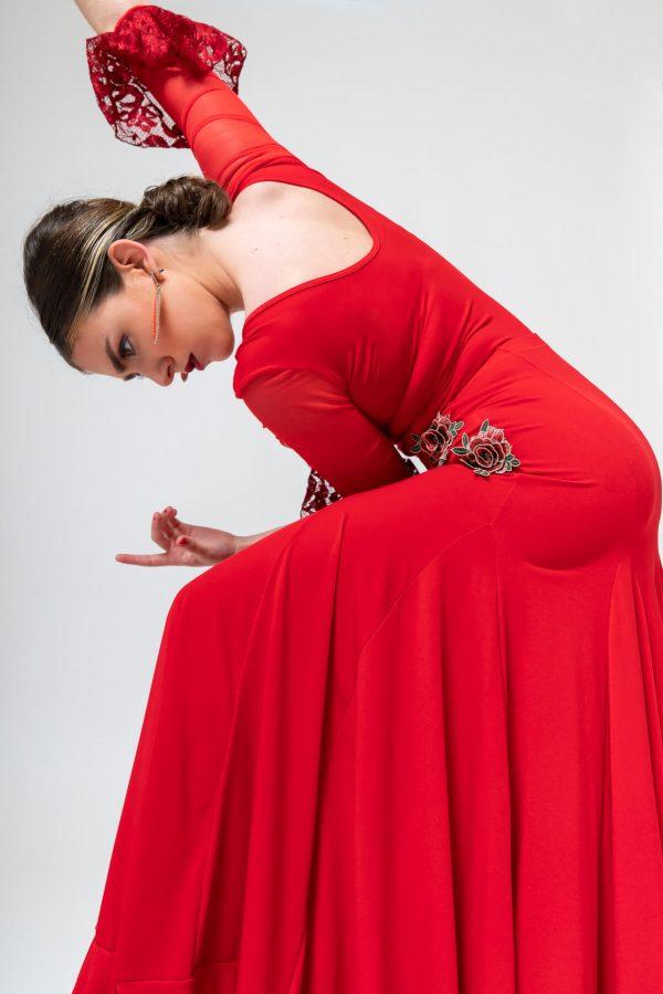 Falda roja flamenca
