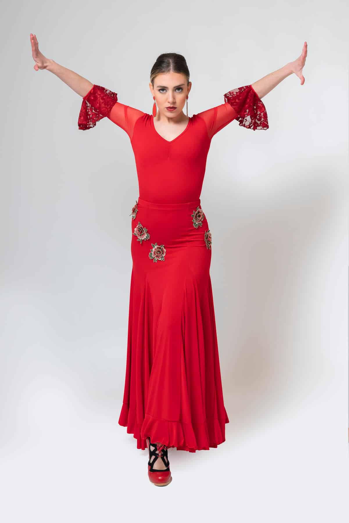 Falda roja flamenca 4305