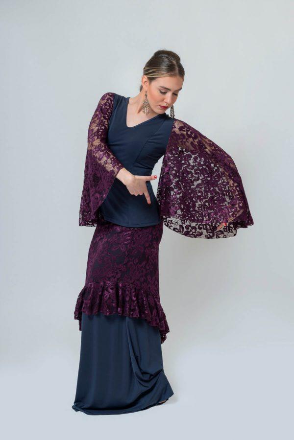 Doble falda flamenca