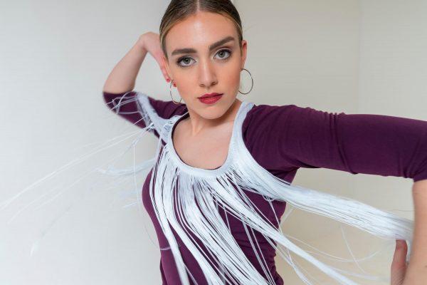 Camiseta flamenca con flecos