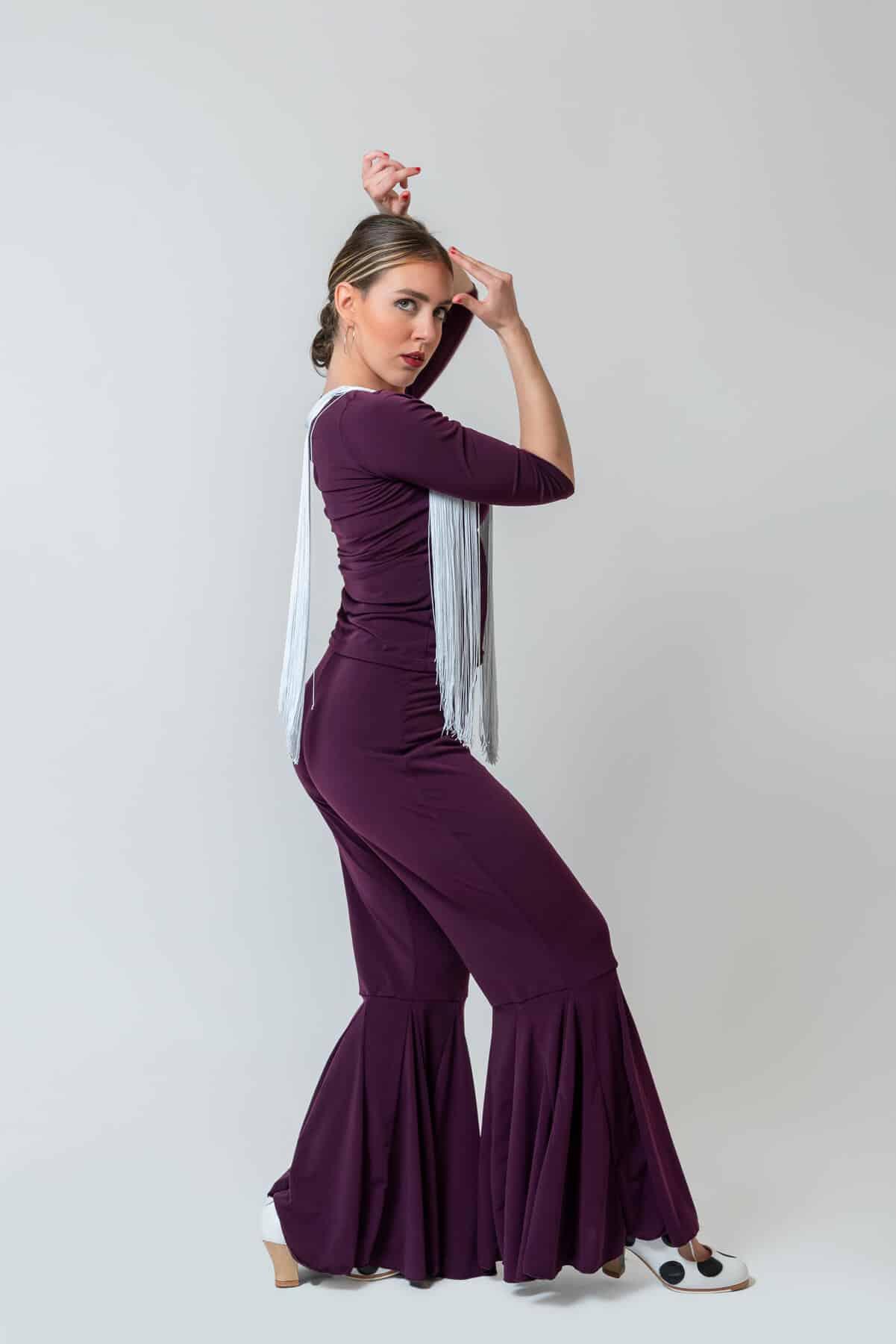 Pantalón flamenco berenjena 4311