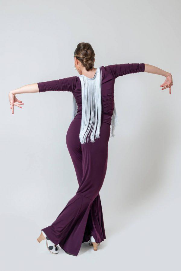 Pantalón flamenco berenjena