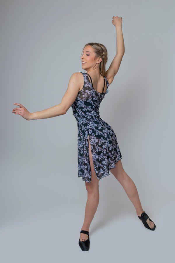Vestido de ballet florecitas 4320