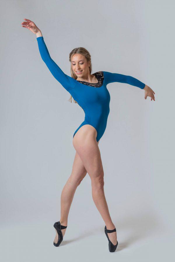 Maillot ballet manga larga mujer 4330
