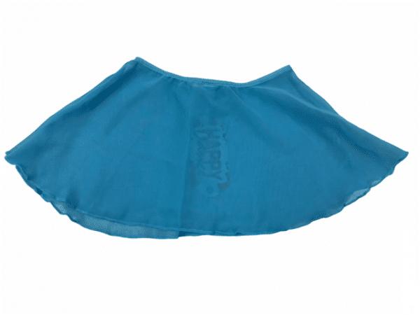 Falda ballet azul niña con elástico en cintura