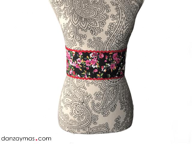 Cinturón para flamenca flores 1298