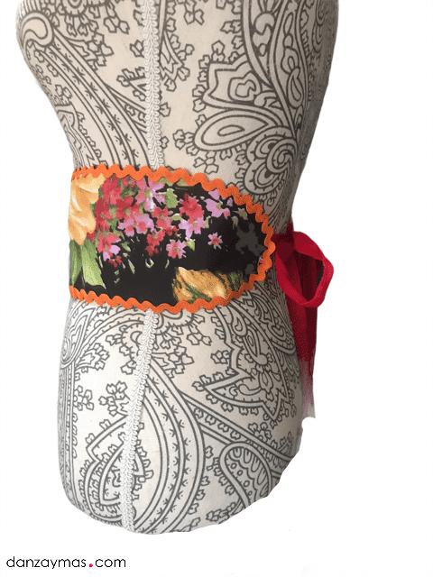 Fajín para flamenca de flores