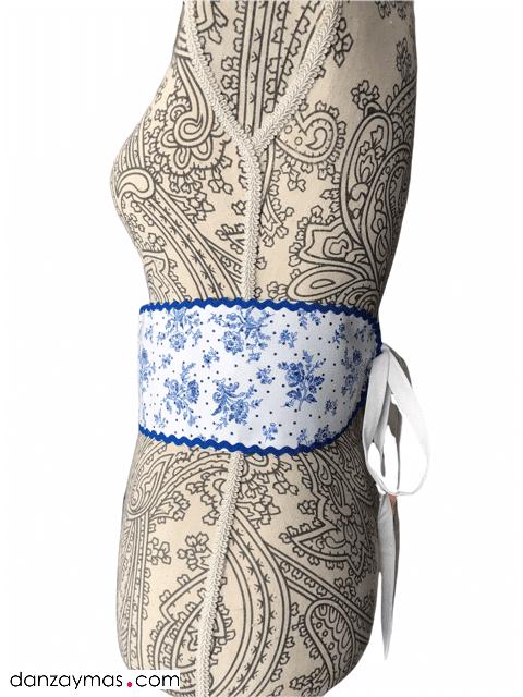 Cinturón para flamenca azules