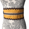 Cinturón rociero para flamenca color mostaza y marrón