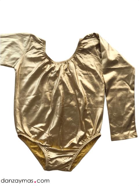 Maillot de ballet dorado