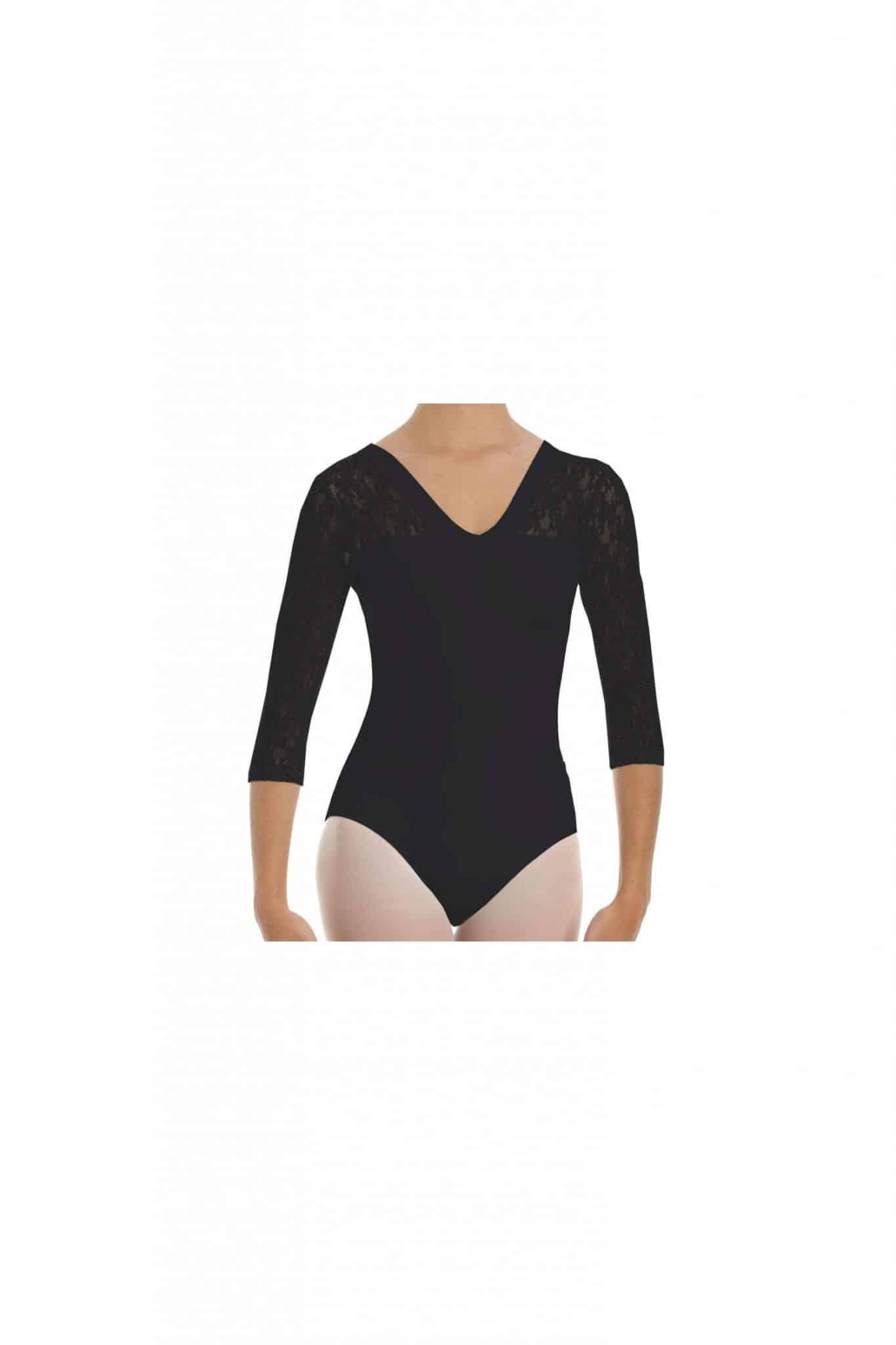 Maillot de ballet con manga al codo 31260